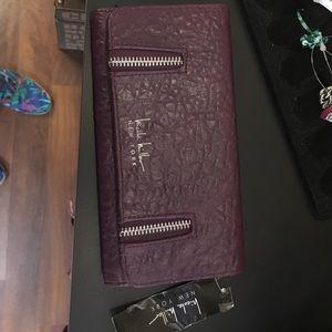 Nicole Miller purple wallet nwt