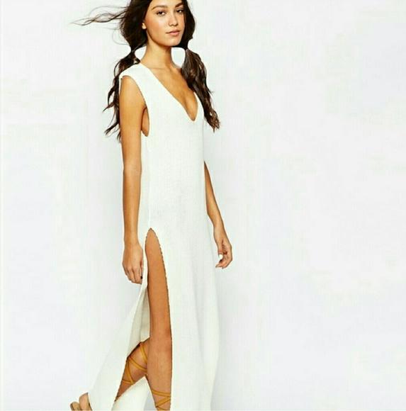 2765c10d62 ASOS Dresses   Cream Knit Beach Cover Up Dress   Poshmark