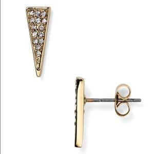 Rebecca Minkoff gold and crystal earrings