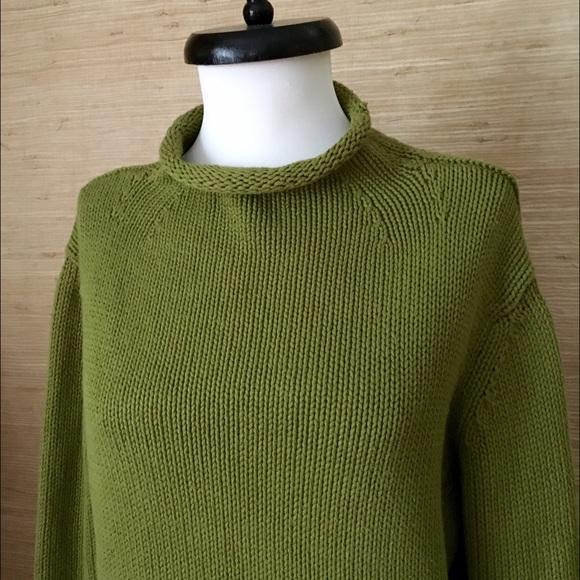 Vintage J Crew Cotton Rollneck Sweater