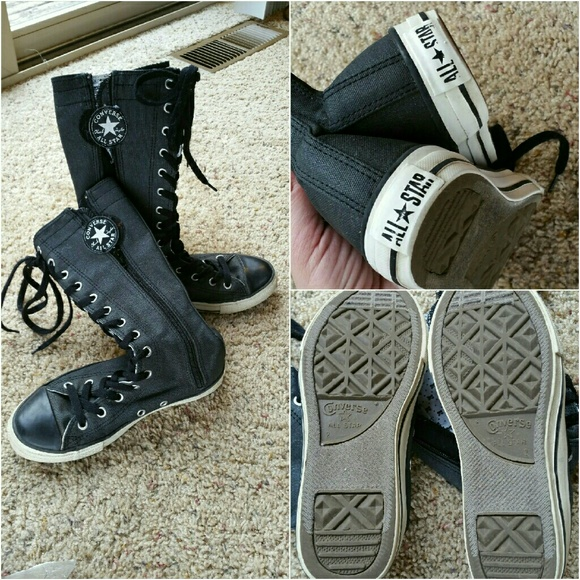 lace knee boots converse length sneakers shoe shoelaces tall bright boot feet match cut blue seller knee-high daughters shows plenty See more Top customer reviews/5().