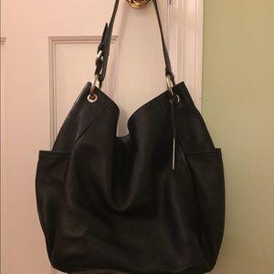 88% off Furla Handbags - Furla black hobo shoulder purse silver ...
