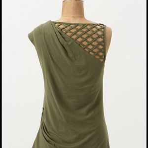 Anthropologie Tops - NWOT Anthropologie Squared Shoulder Top Olive