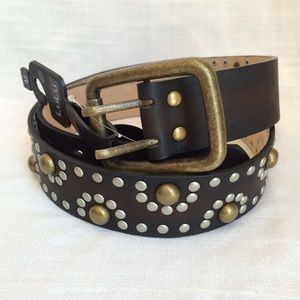 Lulu Accessories - 🆕NWT Brown Faux Leather Studded Belt
