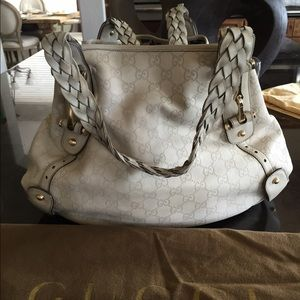 Gucci Sukey off white leather bag