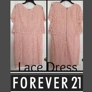 Forever 21 Dresses & Skirts - NWT Pink Lace Dress! It's beautiful!!
