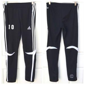 adidas black 'climacool' jogging bottoms