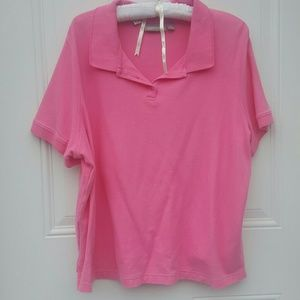 Croft & Barrow Tops - Pink Polo