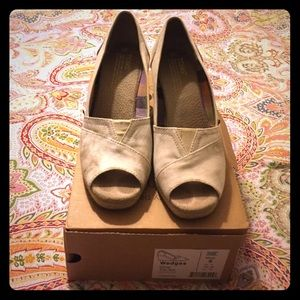 TOMS Shoes - TOMS wedges. Worn only a few times.