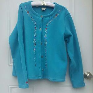 L.L. Bean Jackets & Blazers - Embroidered fleece button down