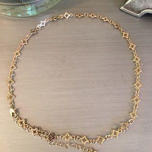 Independent Designer Jewelry - 🛍 Gold Tone Diamond Shape Necklace