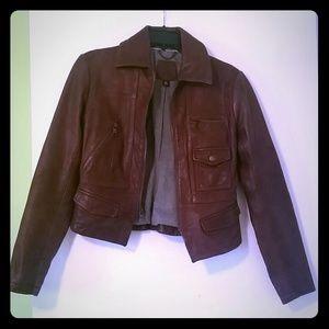 Banana Republic Jackets & Blazers - Genuine Leather Jacket Brown Banana Republic