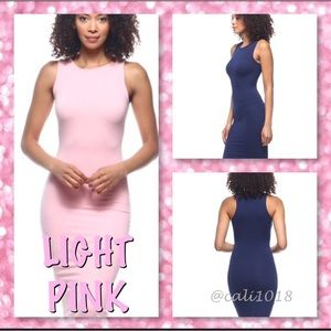 🆕Lt Pink Perfect Midi Tank Dress 5⭐️ Across Board