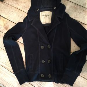 Abercrombie and Fitch Hooded light Jacket S Navy