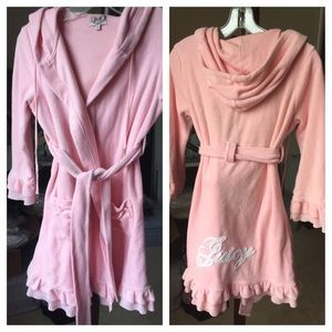 Like new Juicy Couture terrycotton hoodie bathrobe