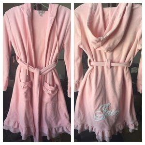 Like new Juicy Couture terrycotton hoodie bathrobe