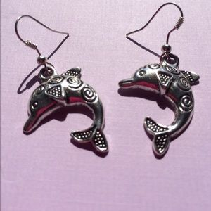 Large Fancy Dolphin Earrings
