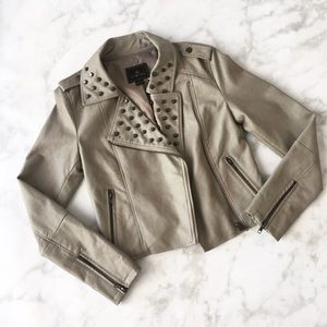 Style Link Miami Jackets & Blazers - SAGE STUDDED FAUX LEATHER JACKET