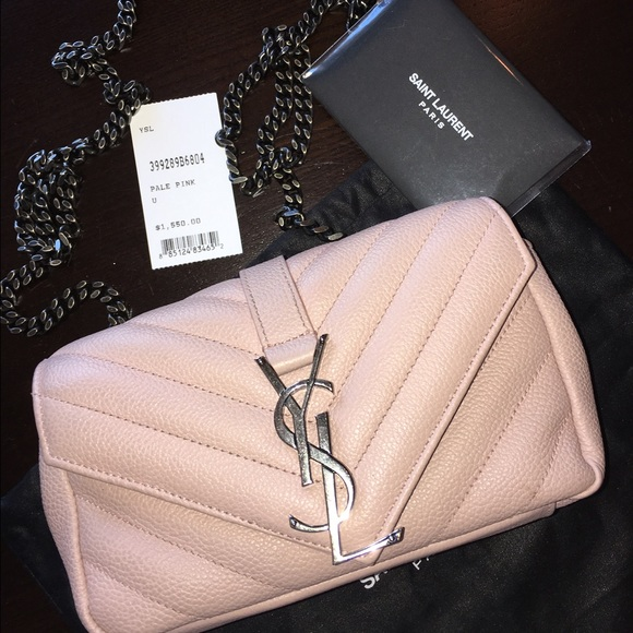 d66b2fd712 Traded 🍾YSL monogram Baby Bag Pale pink w dust
