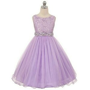 LILAC Glitters Sequined Bodice Layers Tulle Skirt