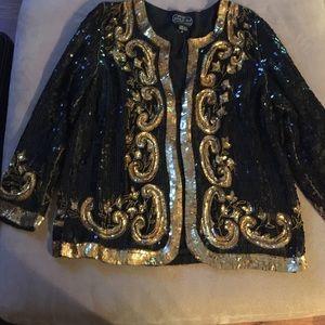 Vintage Silk sequins blazer