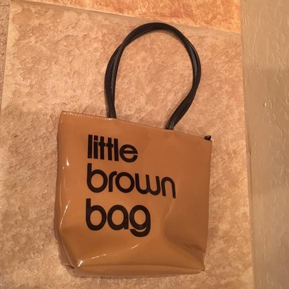 4bd06cf769 Bloomingdales Handbags - Bloomingdales little brown bag pvc tote