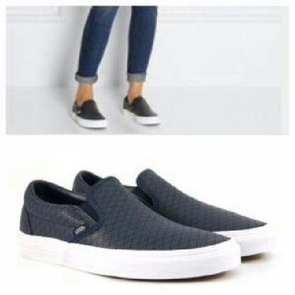 aa3928dcd193 Perforated Leather Slip on Vans. M 572e7767c2845637d200e4c7