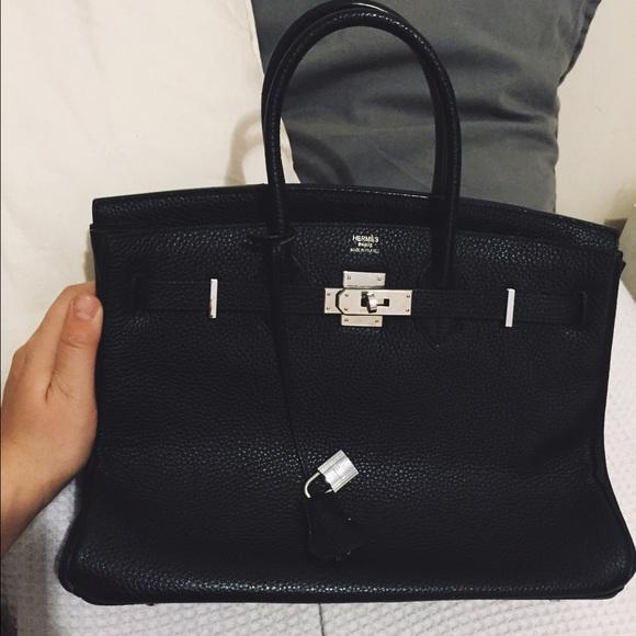 Hermes Handbags - Hermes Birkin inspired true leather bag. dd9515efa497f