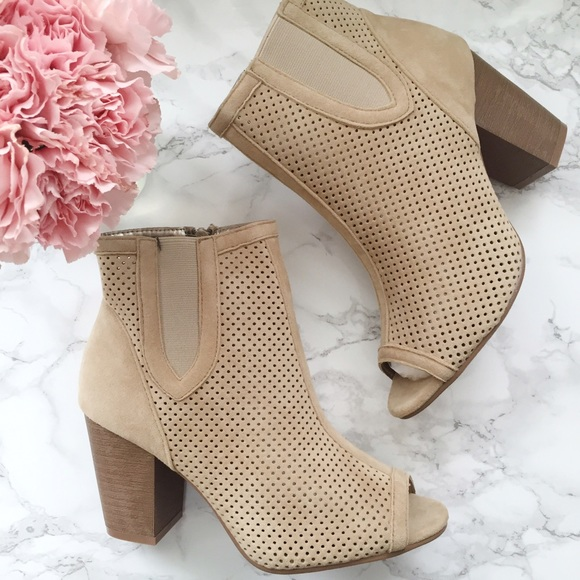 great discount uk availability pretty cool Toni Peep Toe Booties Boutique