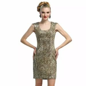 Sue Wong Dresses & Skirts - NWT💠Sue Wong Leopard Sequined Cap Sleeve Dress