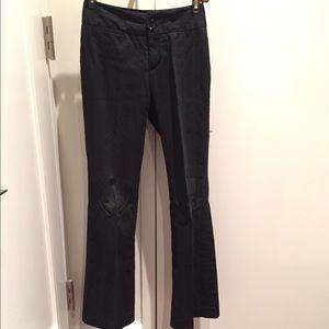 Banana Republic Pants - Banana cotton striped trouser black, 0