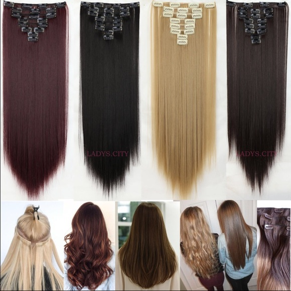 Kylie Cosmetics Other 26 In 8 Clip In Hair Extensions 14 Colors