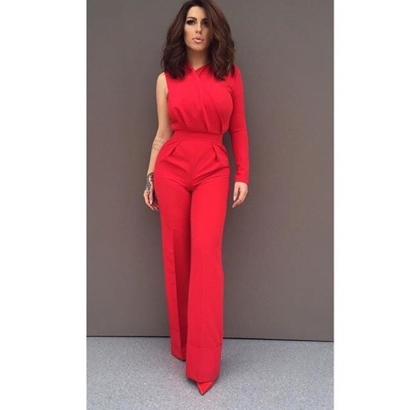 3af980a90e Chic   Sexy Red one long sleeve jumpsuit