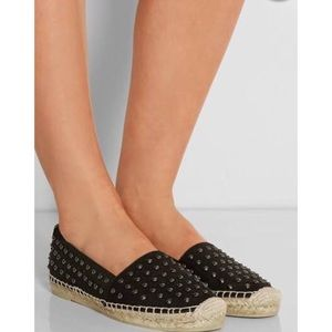 Saint Laurent studded canvas espadrilles