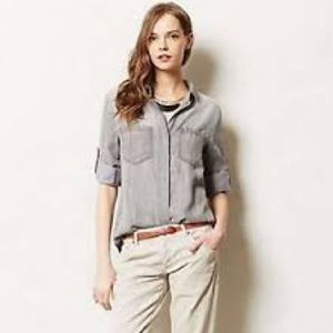 Grey Anthropologie cloth & stone top