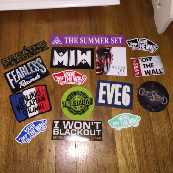 Band and vans stickers