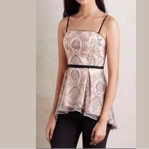 Anthropologie Miette Peplum Top