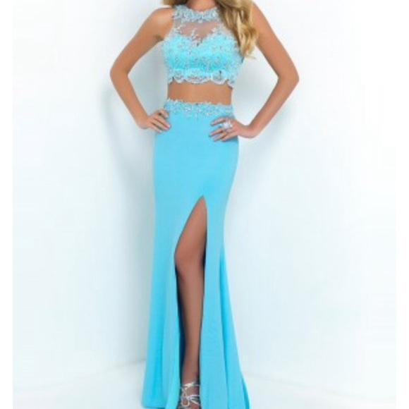 Dresses Bright Light Blue Prom Dress Poshmark