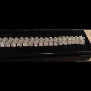 "Jewelry - Natural 2.5 CT Diamonds Link Bracelet (7.25"")"