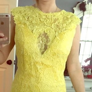 Dresses & Skirts - Light yellow floor length lace dress