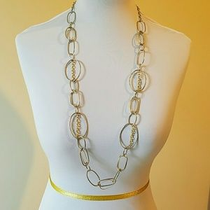Jewelry - Silver and Gold Tone Circle Necklace
