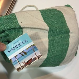NWT Relaxin' Hammock Green & White