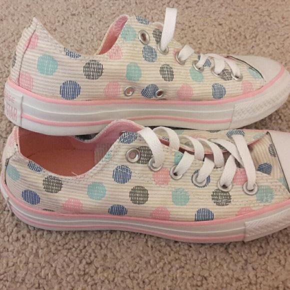 7d8628e644e2 Converse Shoes - Converse All Stars Pastel Polkadots