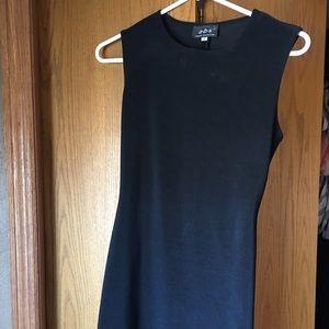 Slim fit black dress