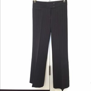 Black pinstripe pant, altered to fit Petite 0