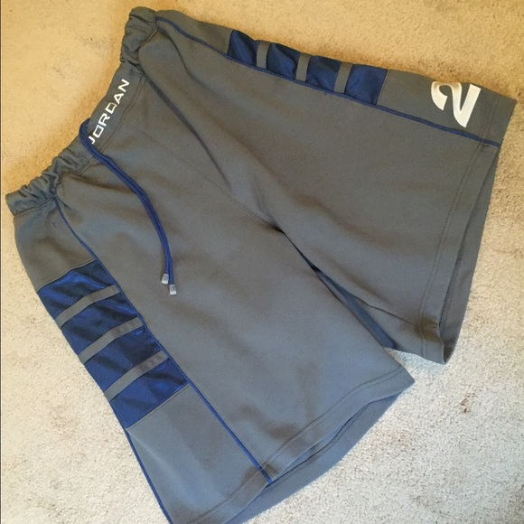 6cd15be83ef9ae Jordan Pants - Jordan Basketball Shorts - Grey   Blue