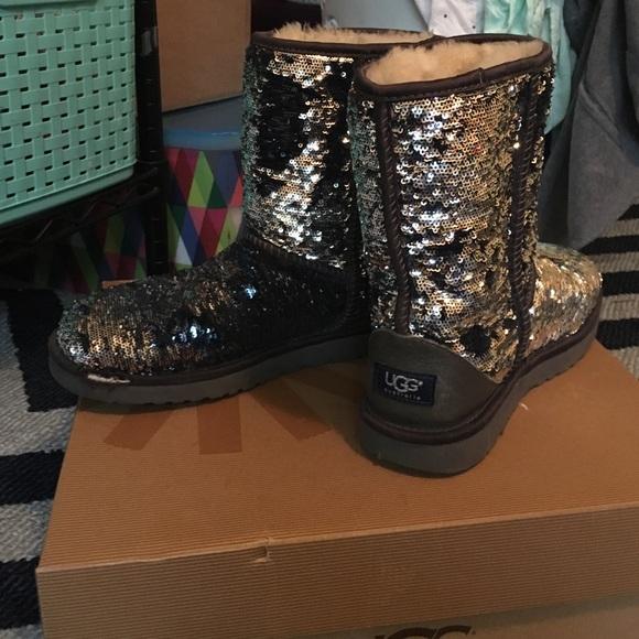 b5d13988c1d Silver Sparkle Ugg Boots Size 8 - cheap watches mgc-gas.com