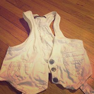Highway Jeans Jackets & Blazers - White Jean Vest