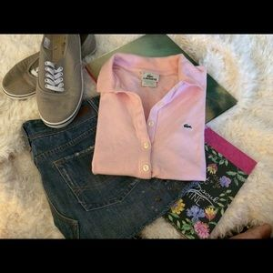 Lacoste Tops - 🌻 Lacoste pink polo