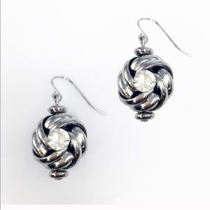 "Adia Kibur Jewelry - Adia Kibur ""knot and crystal"" earrings"